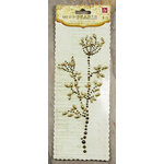 Prima - Say It In Pearls Collection - Self Adhesive Jewel Art - Bling - Flower Stem - Brown, CLEARANCE