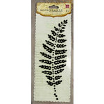 Prima - Say It In Pearls Collection - Self Adhesive Jewel Art - Bling - Fern Leaf - Black, CLEARANCE