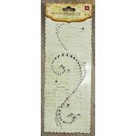 Prima - Say It In Pearls and Crystals Collection - Self Adhesive Jewel Art - Bling - Swirl - Clear
