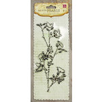 Prima - Say It In Pearls and Crystals Collection - Self Adhesive Jewel Art - Bling - Flower Stem - Black Diamond, CLEARANCE