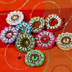 Prima - Dynasty Collection - Bling - Flower Center Embellishments - Assorted