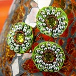 Prima - Dynasty Collection - Bling - Flower Center Embellishments - Peridot, CLEARANCE