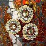 Prima - Dynasty Collection - Bling - Flower Center Embellishments - Citrine, CLEARANCE