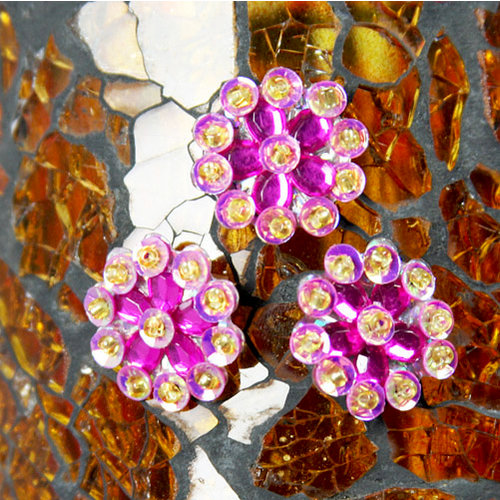Prima - Monarch Collection - Bling - Flower Center Embellishments - Rubine, CLEARANCE