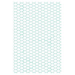 Prima - Clear Acrylic Stamps and Self Adhesive Jewels - Hex Net
