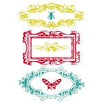 Prima - Clear Acrylic Stamps and Self Adhesive Jewels - Insectae, CLEARANCE