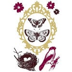 Prima - Clear Acrylic Stamps and Self Adhesive Jewels - Wings