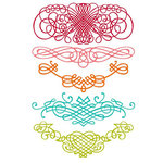 Prima - Clear Acrylic Stamps and Self Adhesive Jewels - Flourish