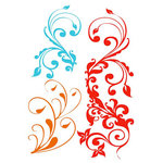 Prima - Clear Acrylic Stamps and Self Adhesive Jewels - Nouveau