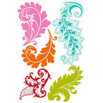 Prima - Clear Acrylic Stamps and Self Adhesive Jewels - Green Leaf 2, CLEARANCE