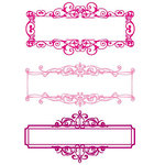 Prima - Clear Acrylic Stamps and Self Adhesive Jewels - Ornamentari