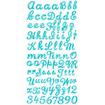 Prima - Watercolor Rainbow Collection - Gem Alphabet Stickers - Blue, CLEARANCE