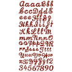 Prima - Raspberry Tea Collection - Gem Alphabet Stickers - Brown, CLEARANCE