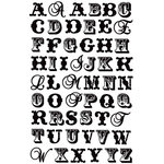 Prima - Pastiche Collection - Jelly Alphabet Stickers - Black, CLEARANCE