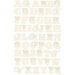 Prima - Shabby Chic Collection - Jelly Alphabet Stickers - Cream, CLEARANCE
