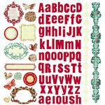 Prima - Pastiche Collection - 12 x 12 Glittered Cardstock Stickers