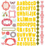 Prima - Umbrella Collection - 12 x 12 Glittered Cardstock Stickers, CLEARANCE