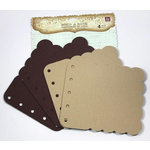 Prima - Build A Book Collection - Scalloped Canvas and Acrylic Book - Tone Brown