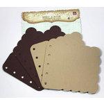 Prima - Build A Book Collection - Scalloped Canvas and Acrylic Book - Tone Brown