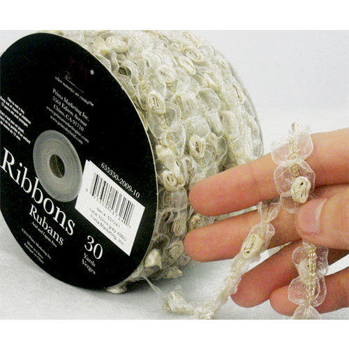 Prima - Lace Collection - Wedding Rosette Shimmer - 30 Yards