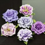 Prima - Lilliput Rose Collection - Flower Embellishments - Iris, CLEARANCE