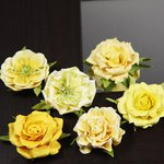 Prima - Lilliput Rose Collection - Flower Embellishments - Yellow, CLEARANCE