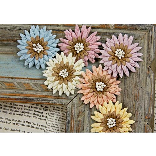 Prima - Petite Mums Collection - Flower Embellishments - Victoria, CLEARANCE
