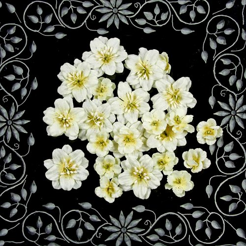 Prima - Athena Collection - Flower Embellishments - Powder Puff