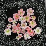 Prima - Athena Collection - Flower Embellishments - Aurora Pink