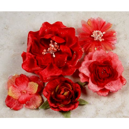 Prima - Symphony Blend - Flower Embellishments - Acceso Red