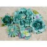 Prima - Symphony Blend - Flower Embellishments - Cappella Blue