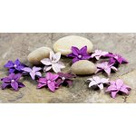 Prima - Pearl Penache Collection - Mulberry Flower Embellishments - Royal Purple, CLEARANCE