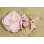 Prima - Andorra Collection - Jeweled Butterfly and Flower Embellishments - Pink Pearl, CLEARANCE