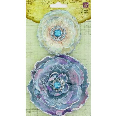 Prima - Grand Dame Collection - Fabric Flower Embellishments - Mermaid