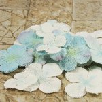 Prima - Calcutta Petals Collection - Fabric Flower Embellishments - Snowflake
