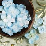 Prima - Pearl Penache Collection - Fabric Flower Embellishments - Blue Moon, CLEARANCE