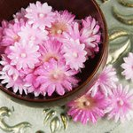 Prima - Pearl Penache Collection - Fabric Flower Embellishments - Easter Pink, CLEARANCE
