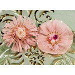 Prima - Zazi Collection - Fabric Flower Embellishments - Blush