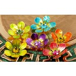 Prima - Cloissone Collection - Lacquer Style Flower Embellishments - Jewel Box, CLEARANCE