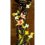 Prima - Songbird Vine Collection - Bird and Flower Embellishments - Yellow, CLEARANCE