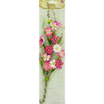 Prima - Songbird Vine Collection - Bird and Flower Embellishments - Pink, CLEARANCE