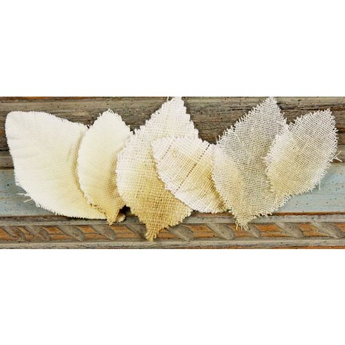 Prima - Calcutta Collection - Fabric Leaves - Oatmeal, CLEARANCE