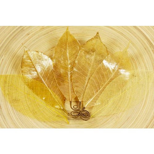 Prima - Temple Collection - Lacquered Leaves - Thong Gold, CLEARANCE