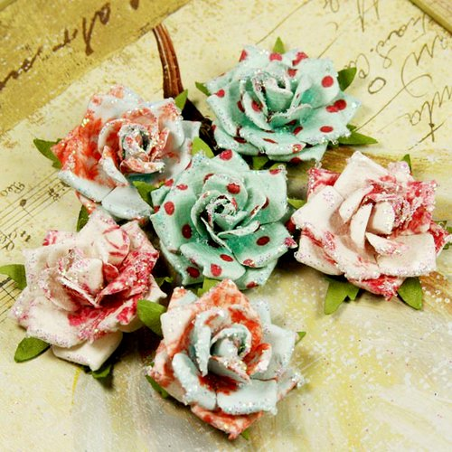 Prima - Belle Artes Collection - Mulberry Flower Embellishments - Novelty