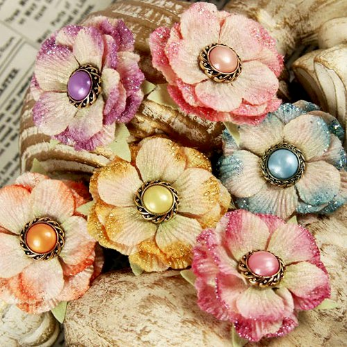 Prima - Ameruse Collection - Flower Embellishments - Duchess Mix
