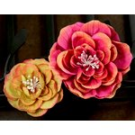Prima - Camilla Collection - Fabric Flower Embellishments - Flamenco