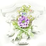 Prima - Debutantes Collection - Miniature Fabric Flower Bouquet - French Lovely Lilac, CLEARANCE