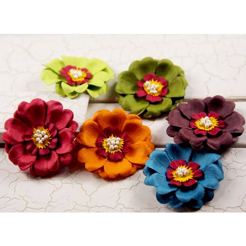 Prima - Strawberry Kisses Collection - Flower Embellishments - Mix 1, CLEARANCE