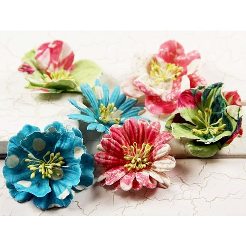 Prima - Strawberry Kisses Collection - Flower Embellishments - Mix 2, CLEARANCE