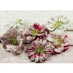 Prima - Shabby Chic Collection - Flower Embellishments - Mix 1, CLEARANCE